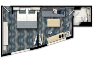 TUI Cruises-Mein Schiff 1-Mein Schiff 2-schip-Cruiseschip-categorie A-B-familie buitenhut-diagram