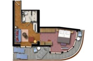 TUI Cruises-Mein Schiff 1-Mein Schiff 2-schip-Cruiseschip-categorie-Horizont-Suite-diagram