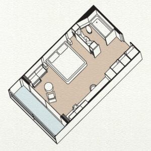 Paul-Gauguin-Cruises-ms-paul gauguin-schip-cruiseschip-categorie-A-A Veranda Suite-diagram