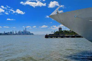 Cruiseschip met uitzicht op New York Cruise Noord-Amerika