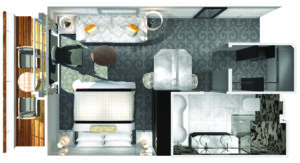Crystal Cruises-Crystal Serenity-schip-Cruiseschip-Categorie PH-Penthouse-diagram
