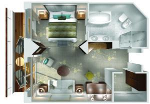 Crystal Cruises-Crystal Symphony-schip-Cruiseschip-Categorie PS-Penthouse Suite-diagram