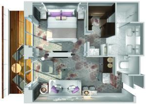 Crystal Cruises-Crystal Symphony-schip-Cruiseschip-Categorie SP-Seabreeze Penthouse Suite-diagram