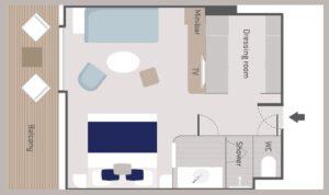 Ponant-le-Bellot-le Dumont d urville-le Jacques Cartier-schip-cruiseschip-categorie PV6-PV5-privilege-suite-diagram
