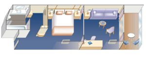 Princess-cruises-enchanted-sky-princess-schip-cruiseschip-categorie M1-M6-MA-MB-MC-ME-MF-Club Class-Mini Suite-Premium-diagram