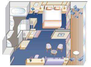 Princess-cruises-enchanted-sky-princess-schip-cruiseschip-categorie S3-S5-S4-S2-Penthouse-Owner Suite-diagram
