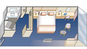 Princess-cruises-enchanted-sky-princess-schip-cruiseschip-categorie o6-deluxe buitenhut-diagram