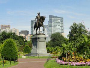 Standbeeld in een park in Boston cruise Noord-Amerika