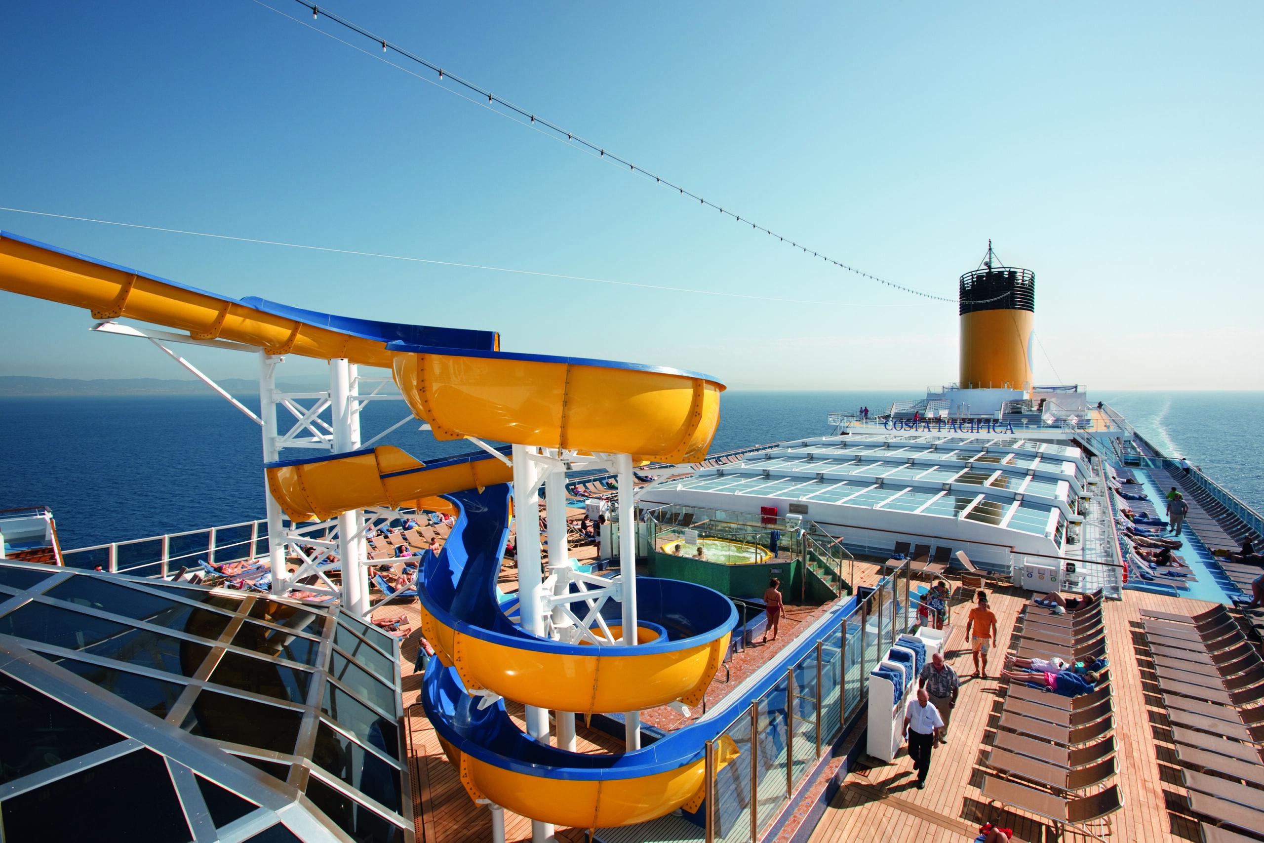 Cruiseschip-Costa Pacifica-Costa Cruises-Glijbaan