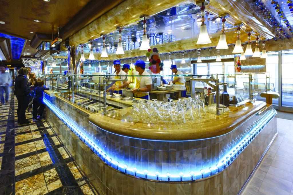 Cruiseschip-Costa Diadema-Costa Cruises-Buffet Restaurant