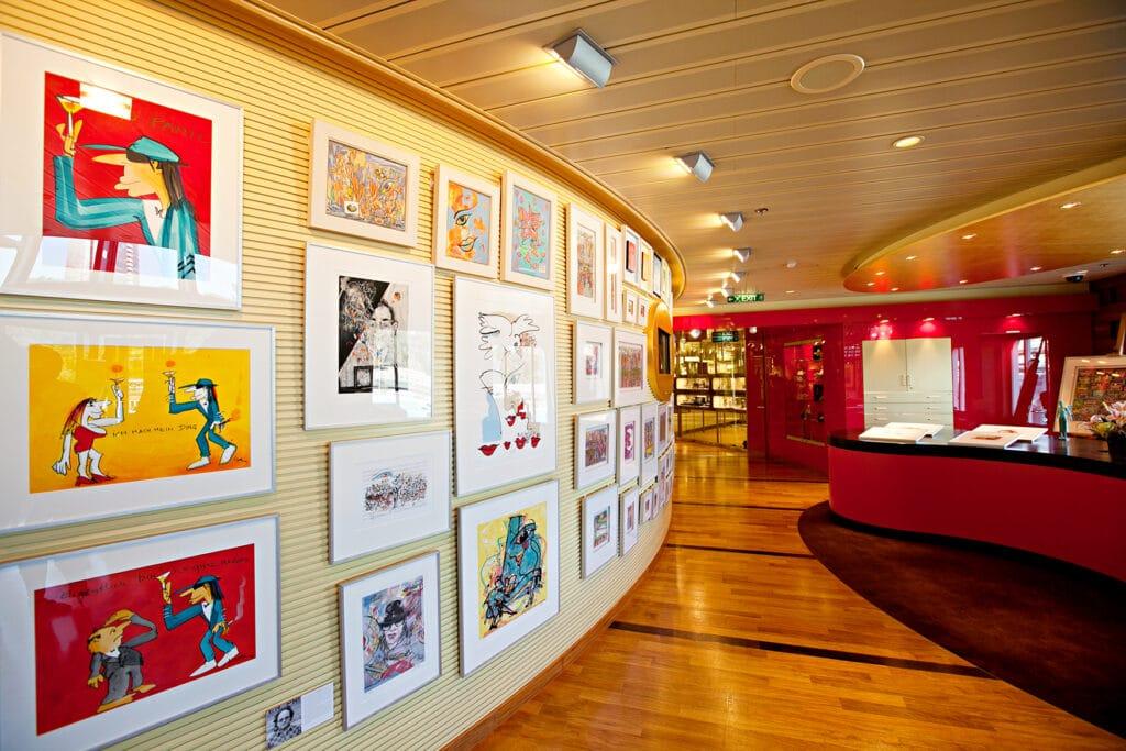 Cruiseschip-AIDAblu-AIDA-Kunstgalerij