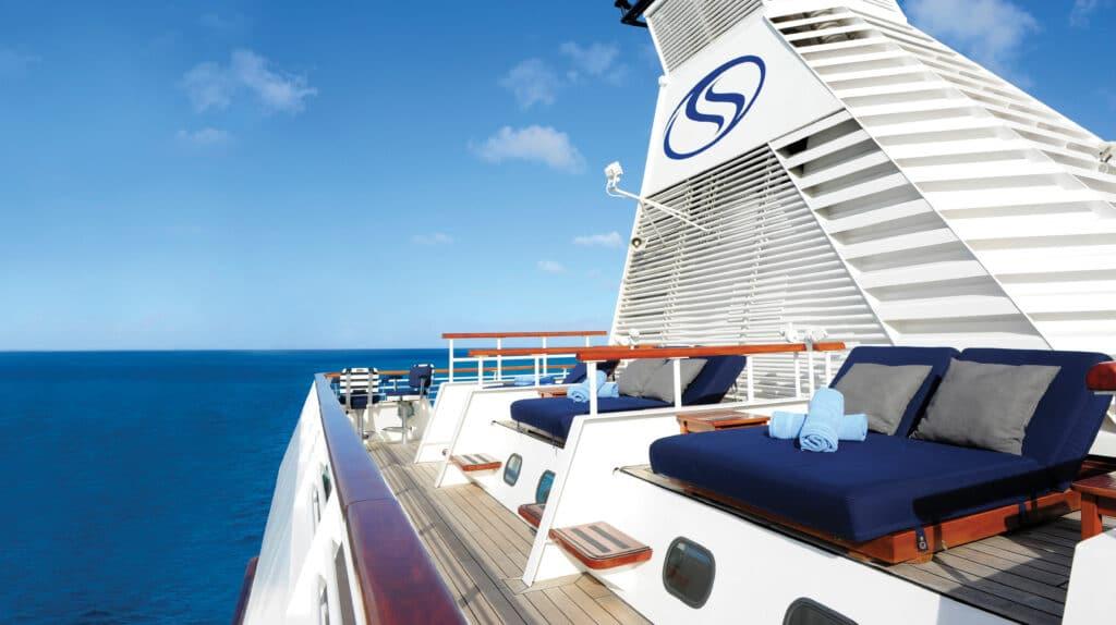 Cruiseschip-SeaDream I-Seadream Yacht Club-Deck Balinese Bedden