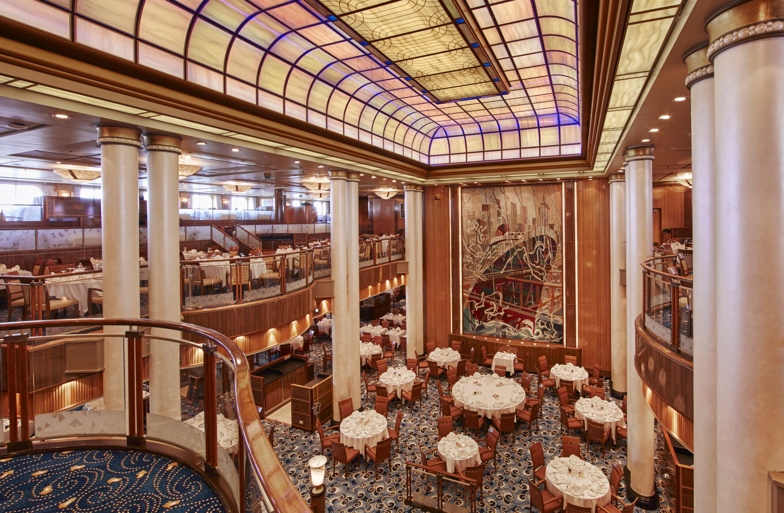 Cruiseschip-Queen Mary 2-Cunard-Britannia Restaurant