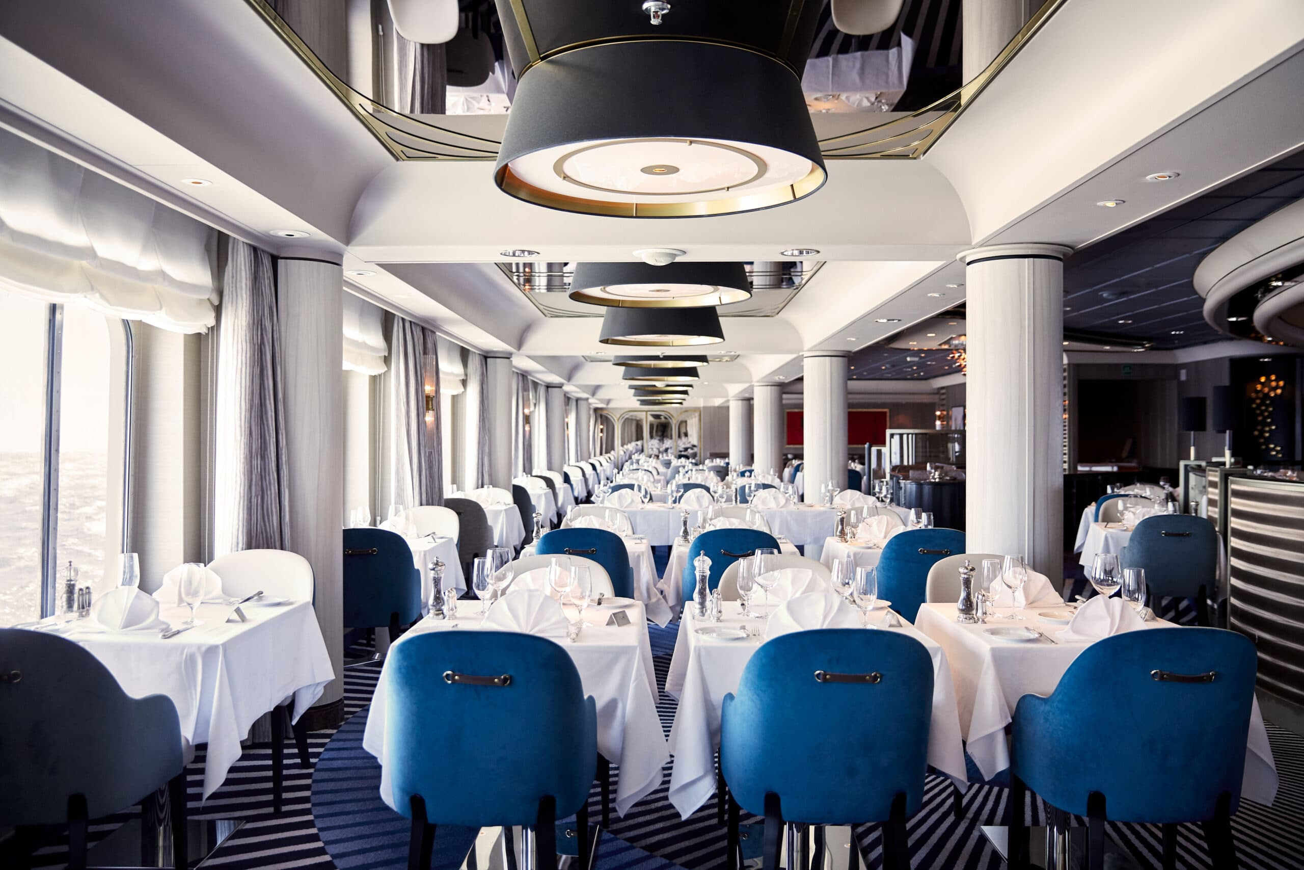 Cruiseschip-Crystal Symphony-Crystal Cruises-Restaurant Waterside