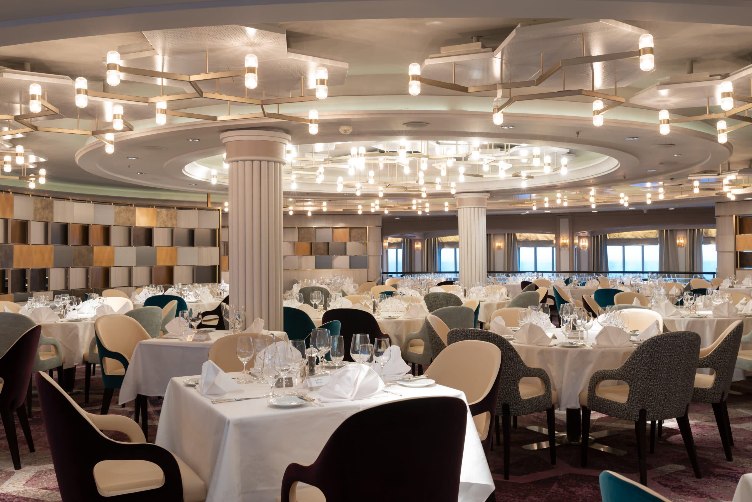 Cruiseschip-Crystal Serenity-Crystal Cruises-Restaurant Waterside