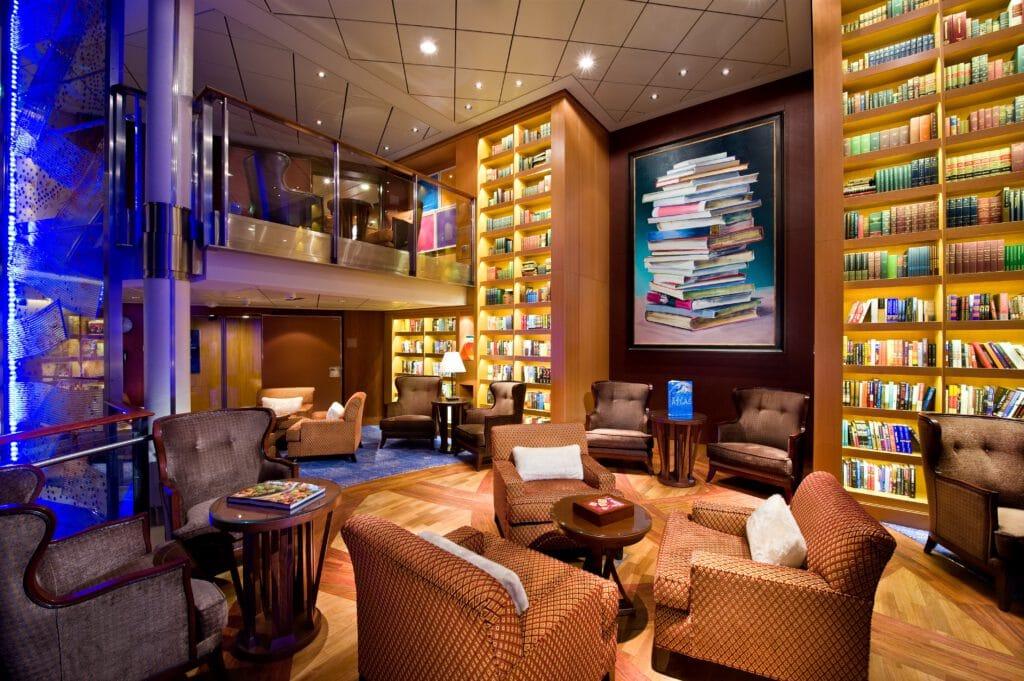 Cruiseschip-Celebrity Solstice-Celebrity Cruises-Bibliotheek