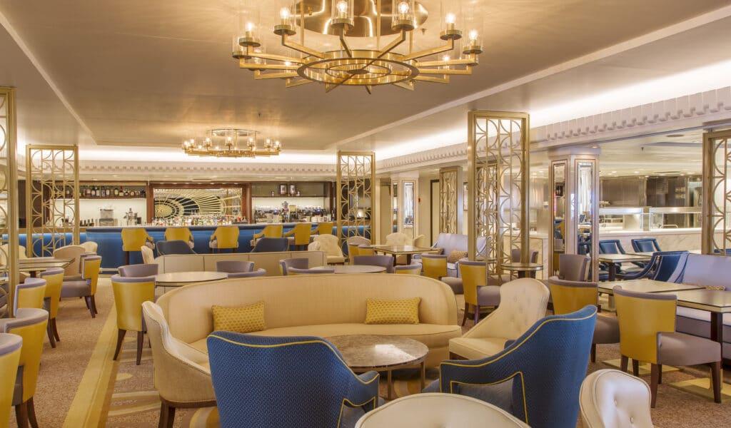 Cruiseschip-Queen Mary 2-Cunard-Lounge