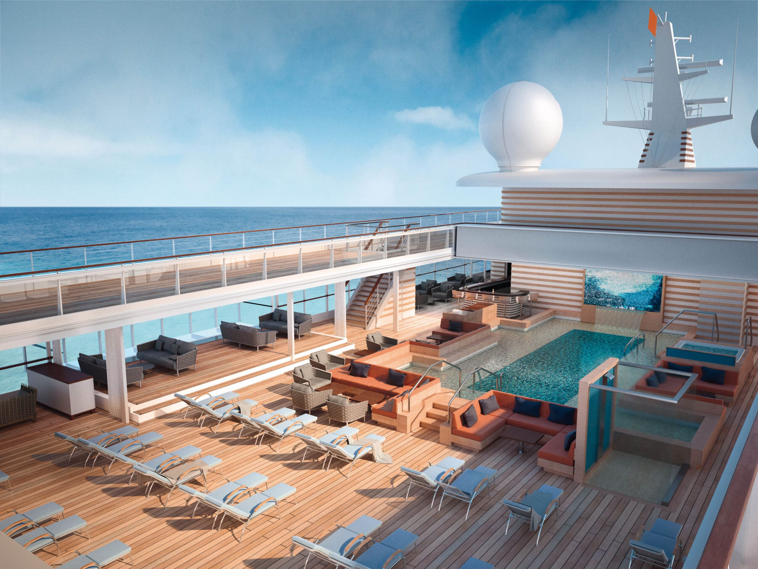 Cruiseschip-Hanseatic Nature-Hapag-Lloyd Cruises-Pool Deck
