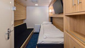 Cruiseschip-Hurtigruten-MS Kong Harald-Schip-Categorie Polar Inside-Cat. K-Binnenhut
