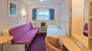 Cruiseschip-Hurtigruten-MS Kong Harald-Schip-Categorie Polar Outside-Cat. N-Buitenhut