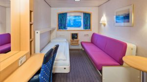 Cruiseschip-Hurtigruten-MS Kong Harald-Schip-Categorie Polar Outside-Cat. O-Buitenhut
