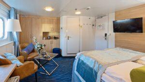 Cruiseschip-Hurtigruten-MS Polarlys-schip-Expedition Suite-Mini Suite-Categorie Q2