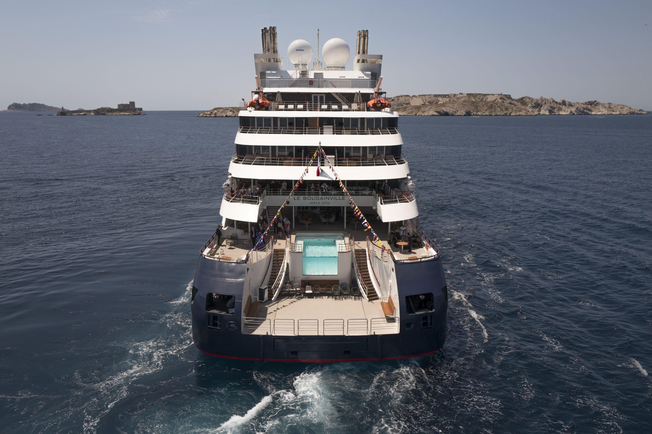 Cruiseschip-Le Bougainville-Ponant Yacht Cruises-Schip Achterkant