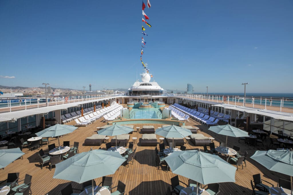 Cruiseschip-Seven Seas Mariner-Regent Seven Seas Cruises-Pool Deck