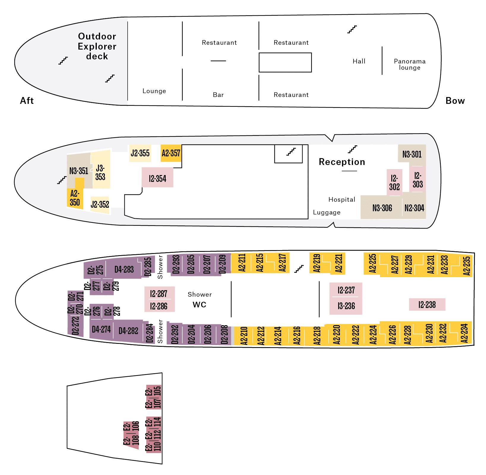 Cruiseschip-Hurtigruten-MS-Nordstjernen-schip-deck-info