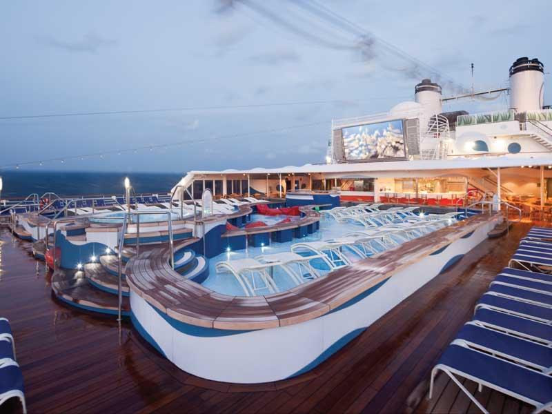 Cruiseschip-Rotterdam-Holland America Line-Zwembad Achterdeck