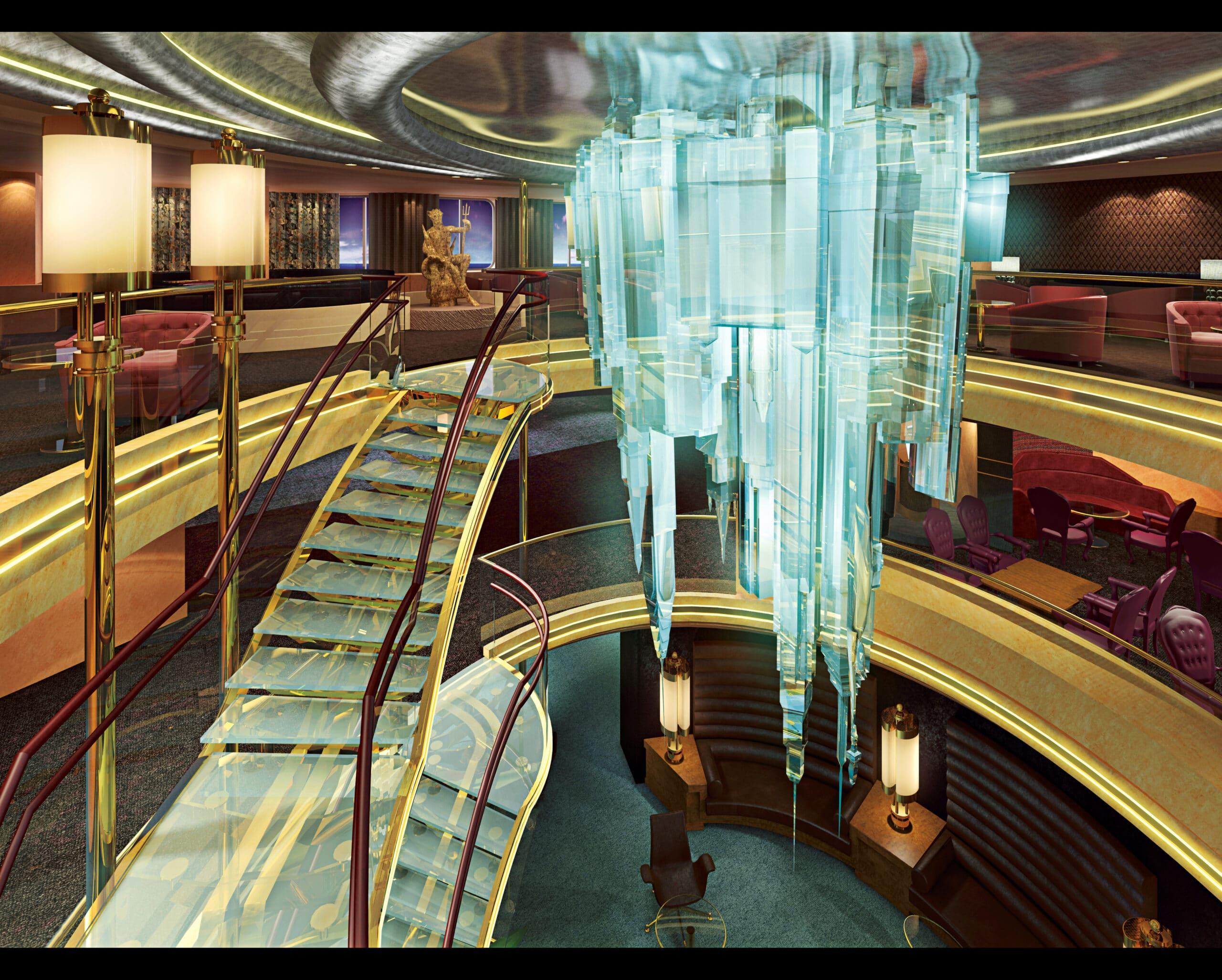 cruiseschip - Holland America Line - Nieuw Amsterdam - atrium