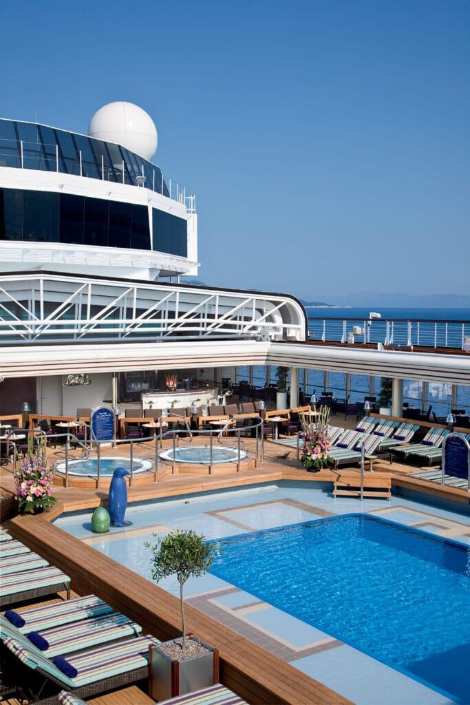cruiseschip - Holland America Line - Nieuw Amsterdam - Lido Pool