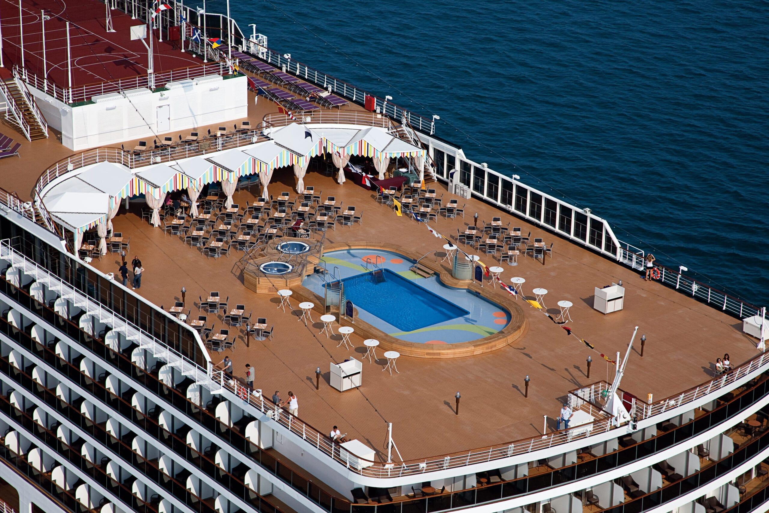 cruiseschip - Holland America Line - nieuw- Amsterdam - Pool Achterdeck