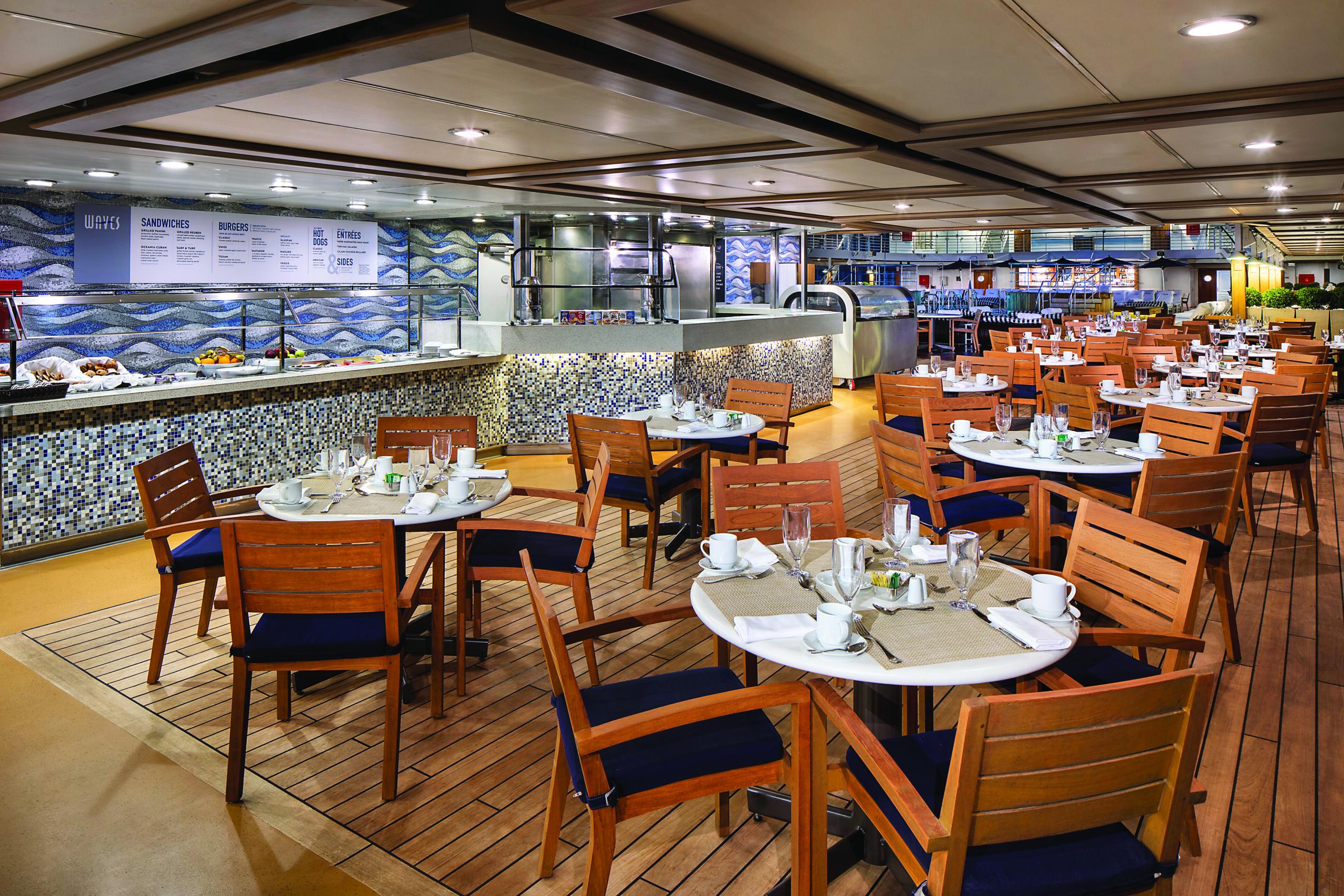 Cruiseschip-Sirena-Oceania Cruises-Restaurant Waves Grill