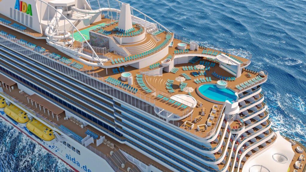 Cruiseschip-AIDAcosma-AIDA-Bovenkant overzicht pooldeck