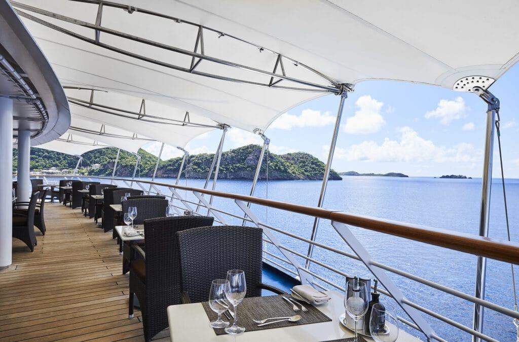 Cruiseschip-Silver Whisper-Silversea Cruises-Restaurant La Terrazza Deck
