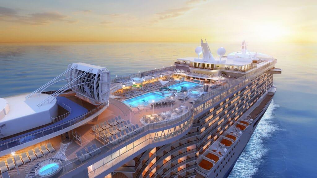 Cruiseschip-Sky Princess-Princess Cruises-Zwembad Deck