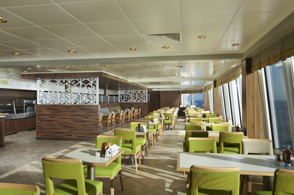 Cruiseschip-Norwegian Dawn-Norwegian Cruise Line-GardenCafe Restaurant