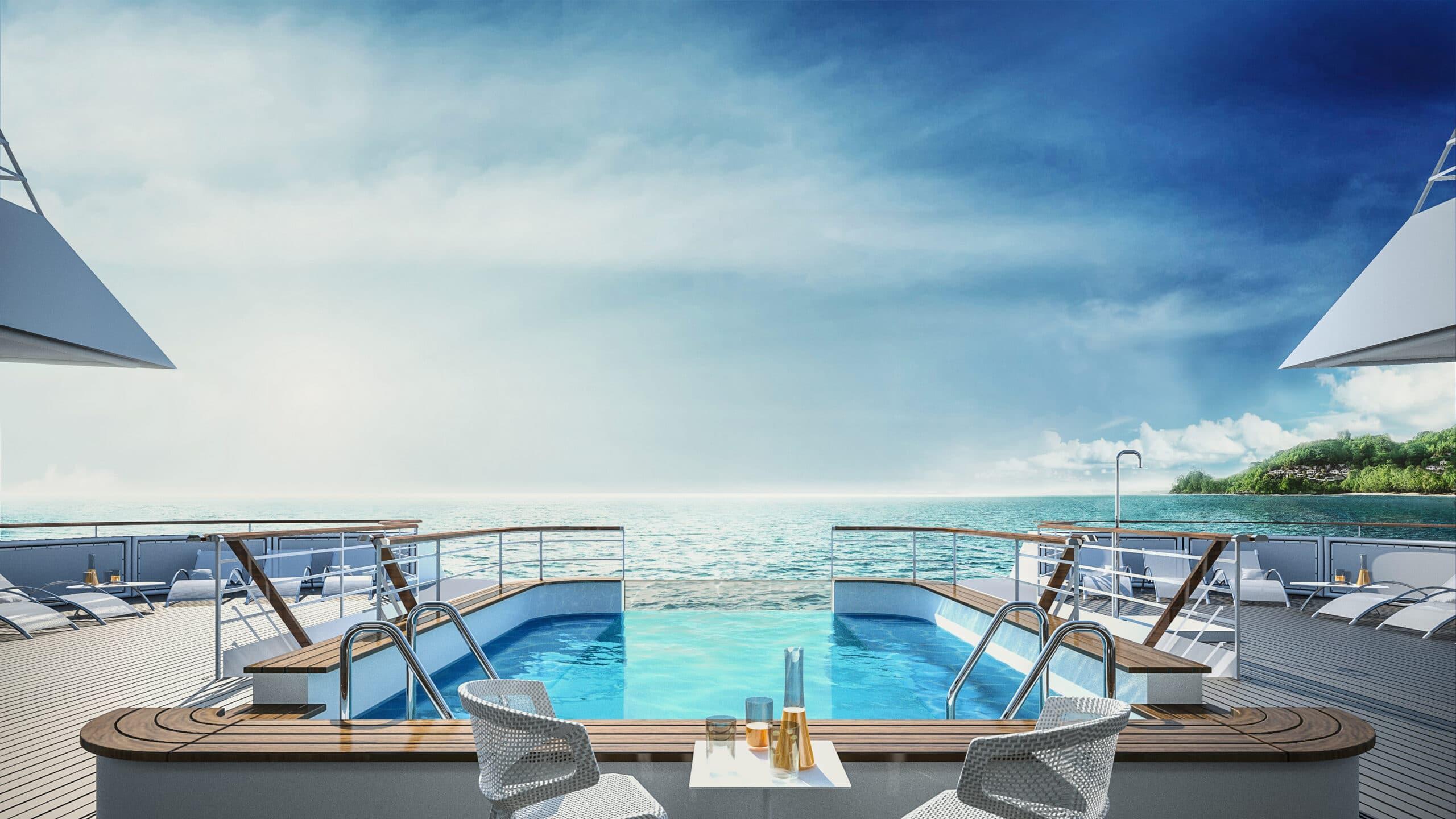Cruiseschip-Le Bellot-Le Champlain-Le Laperouse-Ponant Yacht Cruises-Zwembad