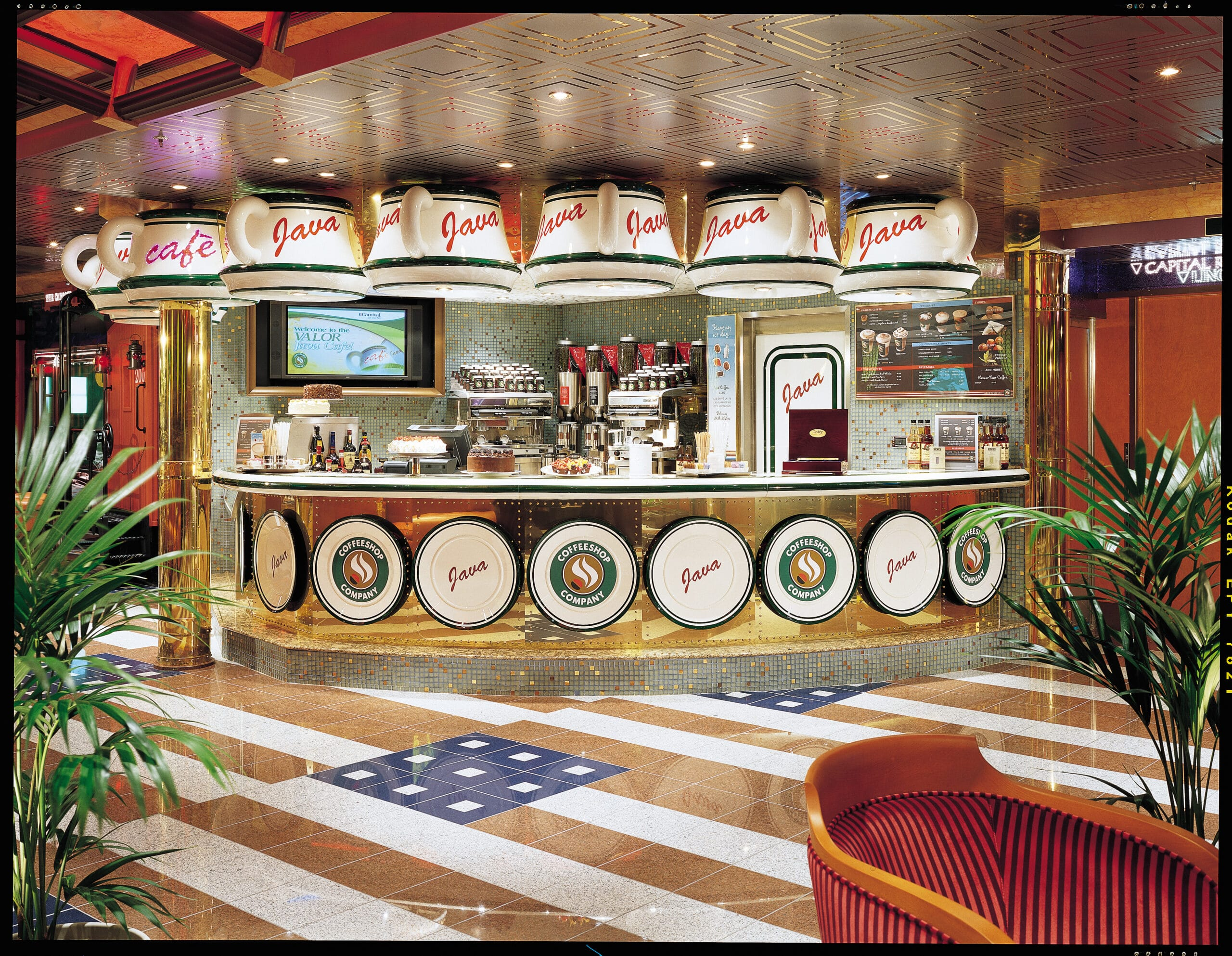 Cruiseschip-Carnival Valor-Carnival-Koffiebar
