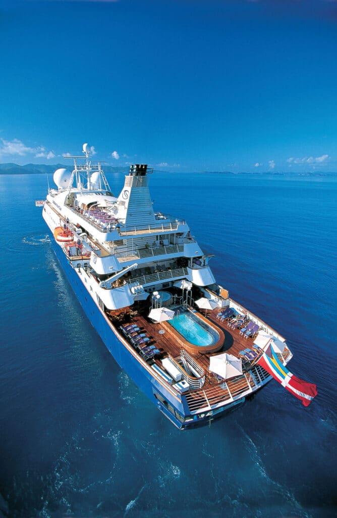 Cruiseschip-SeaDream II-Seadream Yacht Club-Achterdeck