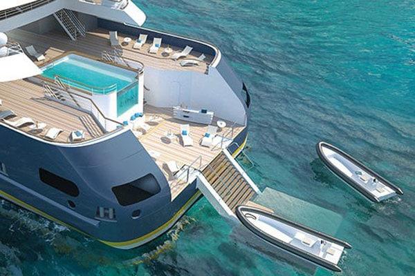 Cruiseschip-Le Jaques Cartier-Ponant-Deck