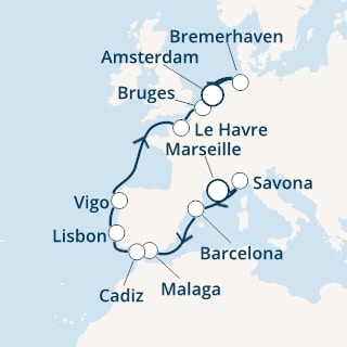 Costa-Cruises-Costa-Favolosa-16 april 2021-Marseille-Amsterdam