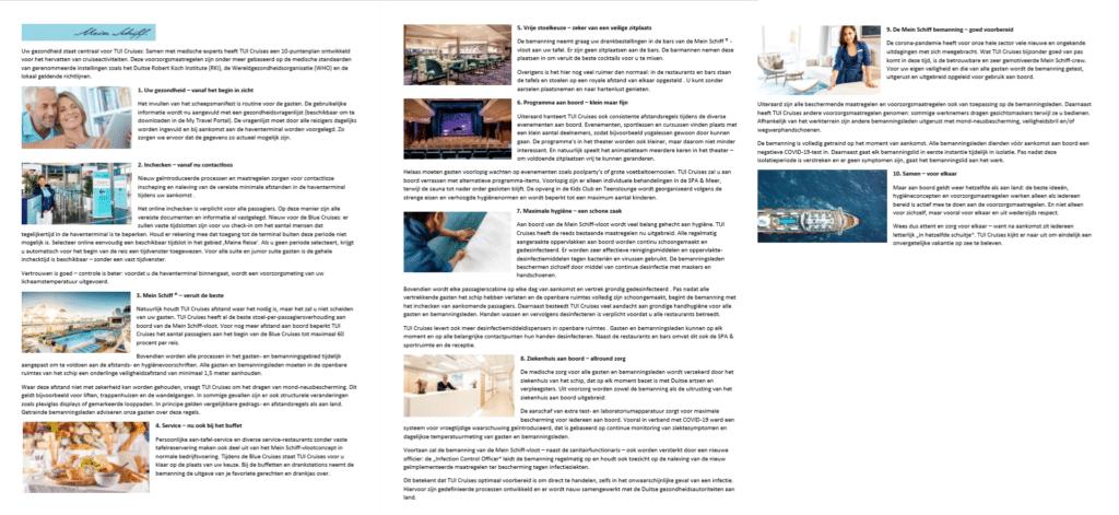 TUI-Cruises-Corona-Veiligheid-maatregelen-aan boord