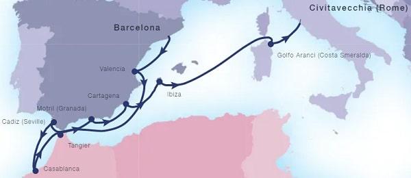 Seabourn-Seabourn-Encore-route-17 juli 2021