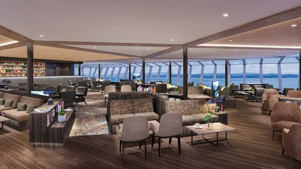 Cruiseschip-Hurtigruten-MS Fram-Schip-Explorer Bar