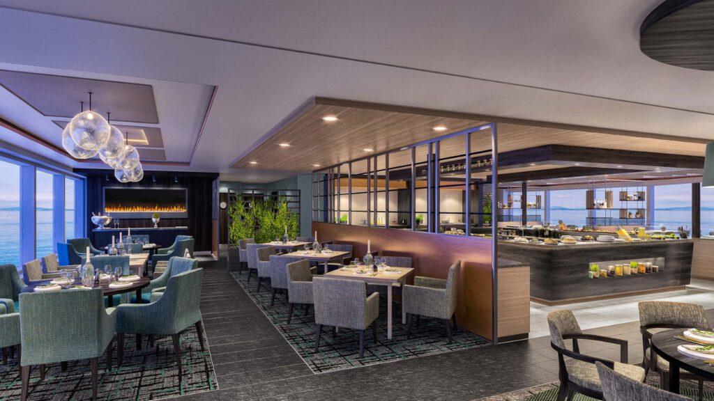 Cruiseschip-Hurtigruten-MS Fram-Schip-Restaurant