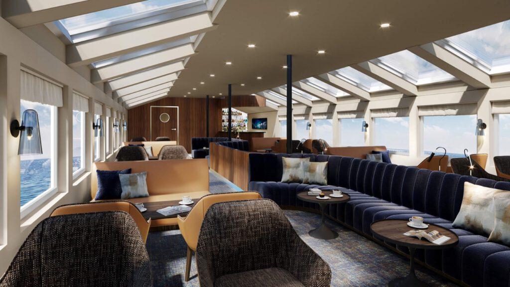 Cruiseschip-Hurtigruten-MS Vesteralen-Schip-Fyret Bar