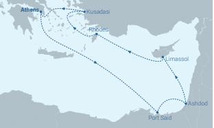Celestyal-Cruises-route-8-dagen-Egypte-Israel