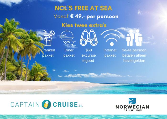 NCL Free at Sea - Pakket - Vanaf 49